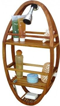 Teak Shower Organizer, Spa Collection - contemporary - Shower Caddies - Aqua Teak