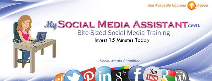 My Social Media Assistant -  Bite-Sized Daily Training that teaches results-driven concepts to simplify running your social media.  Platforms include Facebook, Linkedin, Twitter and Youtube.