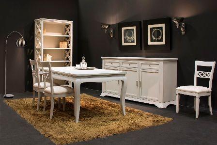 Casa Ampia-τραπεζαρία Ilia-τραπέζι-καρέκλα-μπουφές-βιβλιοθήκη