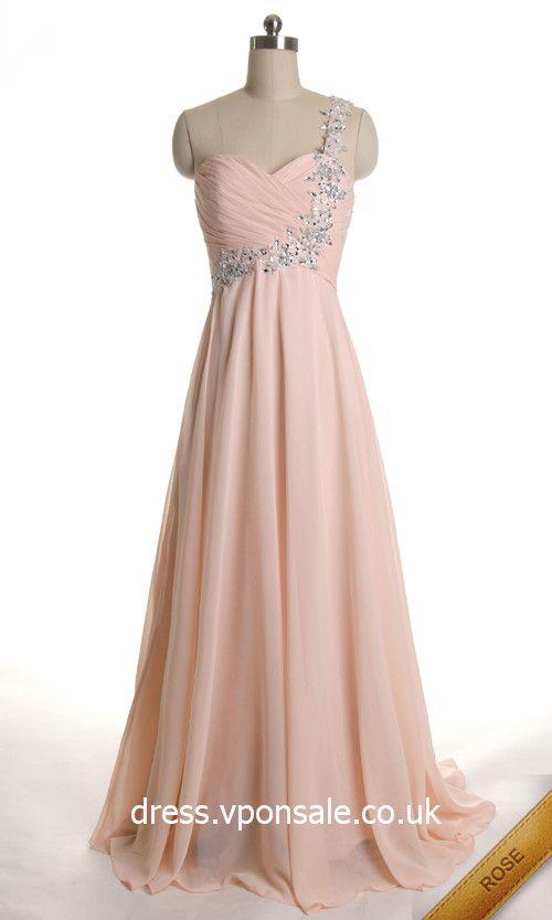 Bridesmaid Dresses 2014 Sweetheart One Shoulder Long Elegant Ruched Prom Dress DVP0172