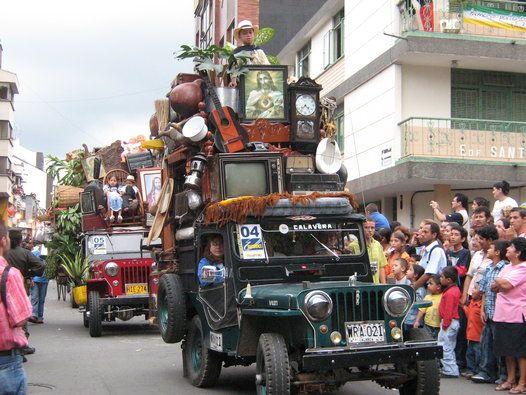 Armenia+Colombia+Sitios | Desfile del Yipao, un atractivo turístico de Armenia
