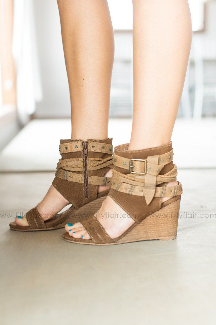 Naughty Monkey Leather Lasalle Wedge in Tan – Filly Flair #wedges #shoes #socute #afflink