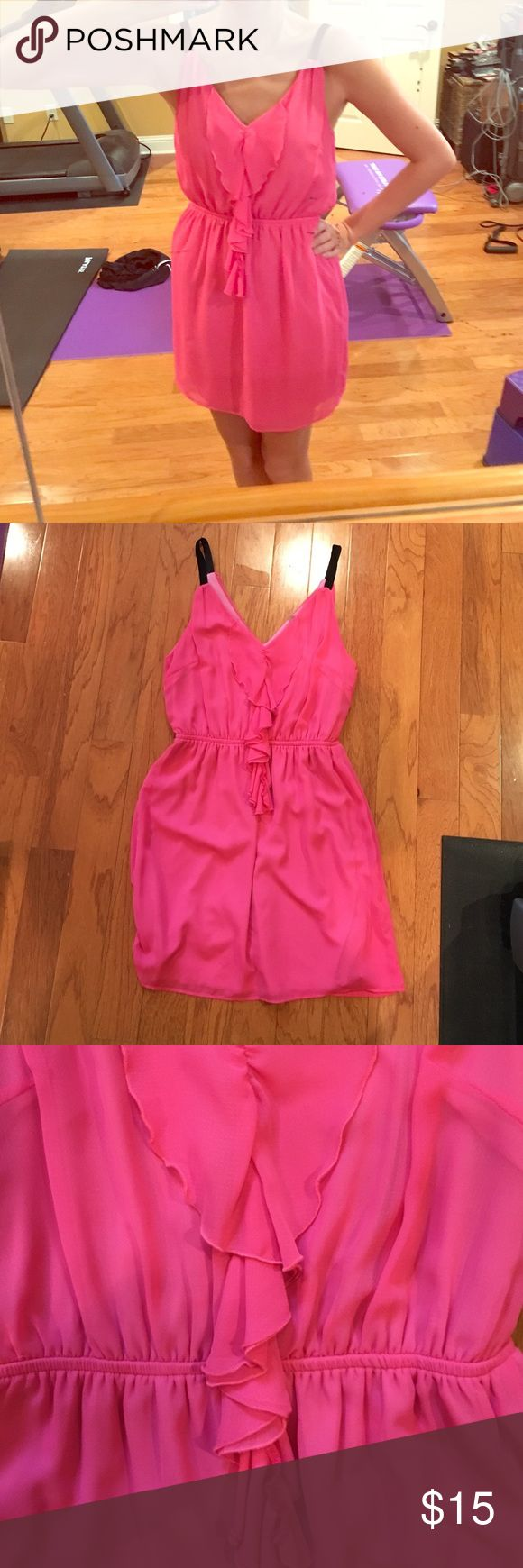 Super cute hot pink dress! Size medium! Super cute hot pink dress!                                         Brand: peppermint                                                            Size: Medium                                                             Condition: great                                                             Perfect for a casual event or formal! Peppermint  Dresses Mini