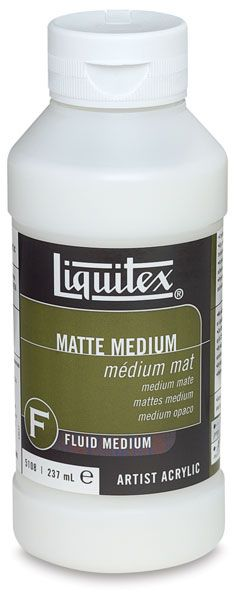 Liquitex matte medium... INSTEAD of spray. Also removeable with razor blade if needed