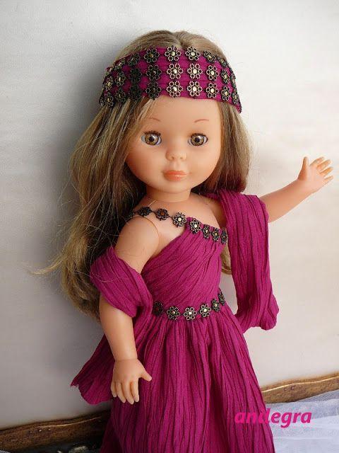 ANILEGRA COSE PARA NANCY: Vestido de fiesta fucsia plisado ( reservado)