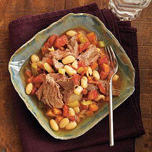 Tarragon Lamb Shanks with Cannellini Beans | MyRecipes.com