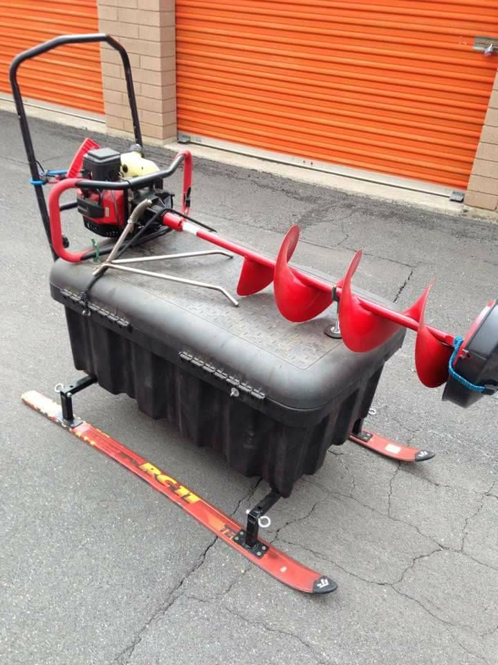 25 best ideas about ice fishing sled on pinterest ice for Fish house skis