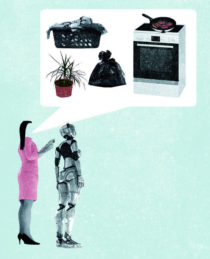 <p>Roboter halten künftig Einzug ins Alltagsleben. Etwa im Bereich der Pflege und im Kundenservice, aber auch in privaten Haushalten. Die Maschinen, die im Dienstleistungsbereich tätig sind, werden als humanoide Roboter bezeichnet. Sie kochen, putzen oder übernehmen die Haustierpflege. Forscher tüfteln an Robotern, die Einkäufe für die Familie tätigen und zugleich eine Art beratende Funktion bei der Haushaltsorganisation und des familiären Zusammenlebens übernehmen.</p>