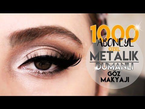 Metalik Gri Dumanlı Göz Makyajı - ❤️1000 Kişi Olduk!❤️