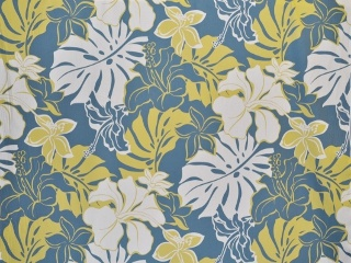 CAA0068 - 100% Cotton Fabric: All-Over Hawaiian Print Fabric