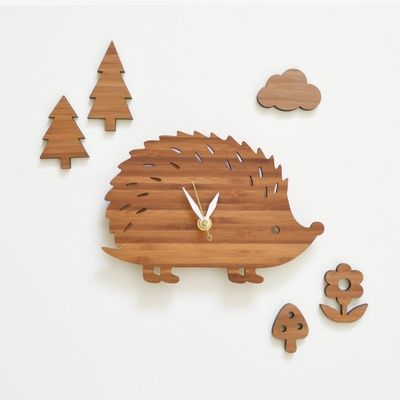Baby Hedgehog Clock Set