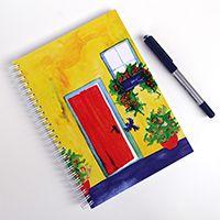Egy ajtó kitárul spirálfüzet  #illusztráció #füzet #akvarell #design