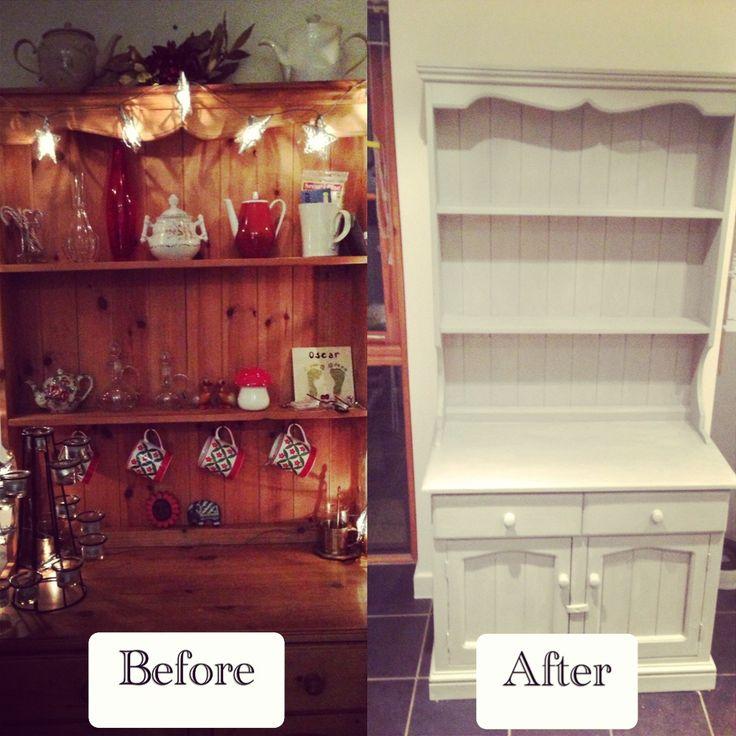 Revamp Kitchen Cupboards Ideas: Welsh Dresser Revamp Using Annie Sloan Chalk Paint In