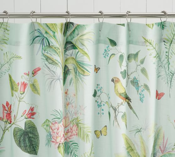 Lia Palm Shower Curtain Tropical Shower Curtains Vinyl Shower