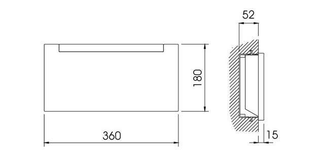 Galia semi-recessed (solid wall) / Galia semiempotrado (pared maciza) / Galia semi-encastré (mur massif)
