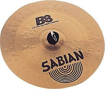 "Sabian B8 14 Inch Mini Chinese by Sabian. $65.00. A smaller, punchier Chinese cymbal, the SABIAN 14"" B8 Mini Chinese delivers fast, biting accents. Precision formed, hammered and lathed for pure, tonally tight sounds, B8 is the bright, cutting sound of pure Bronze … at a low price that makes your first move into this precious metal an easy one.. Save 40%!"