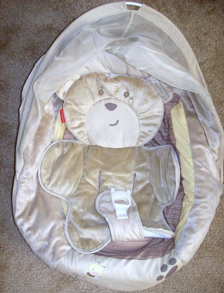 Fisher price my little snugabear cradle swing seat cover for Baby swing motor replacement