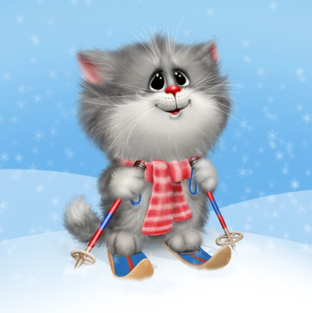 картинки котята на лыжах обладает