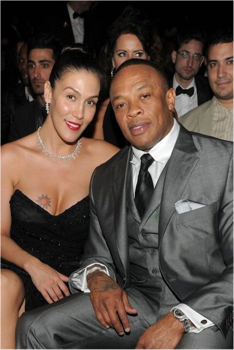 Dr. Dre and wife Nicole Young....