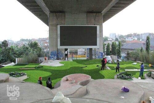 Taman film yang berlokasi di bawah flyover pasupati akan segera diresmikan Minggu(14/9) - Bandung, infobdg.com