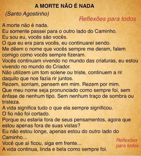 #Mensagem de #reflexao #espirita Leia a biografia de Santo Agostinho