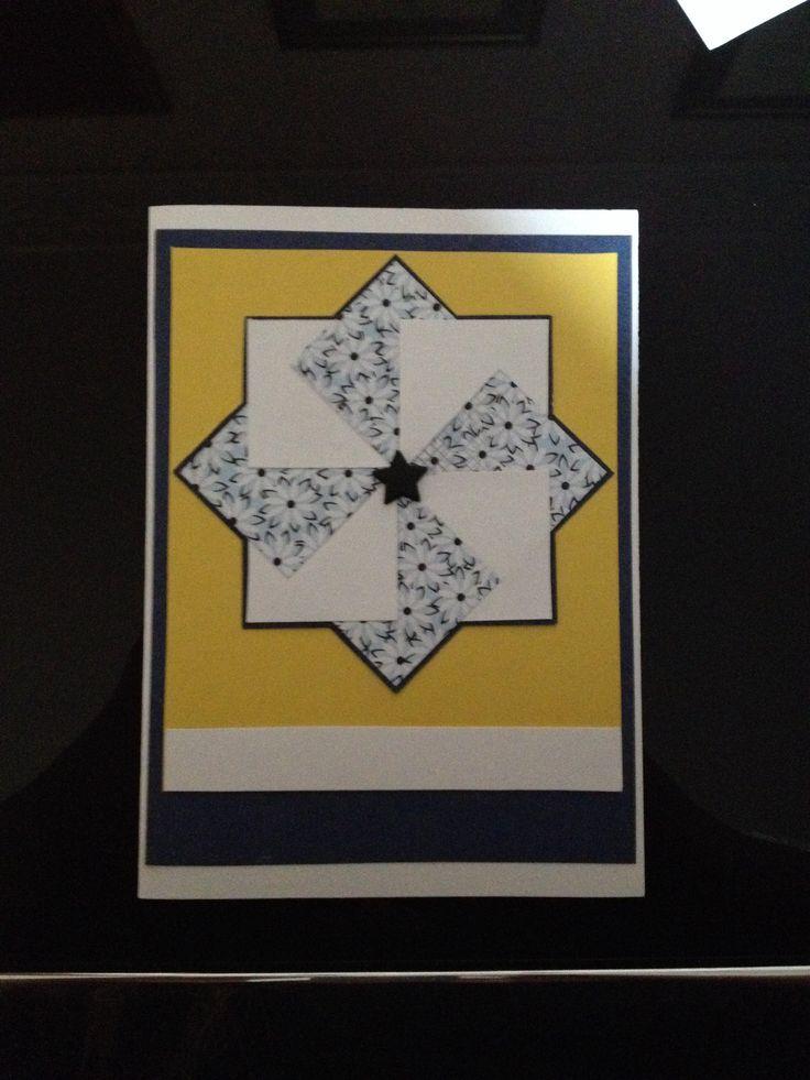 Pinwheel - First Attempt Tutorial: http://www.owhstarsandstamps.org/2011/04/tutorial-pinwheel-ii.html?m=1