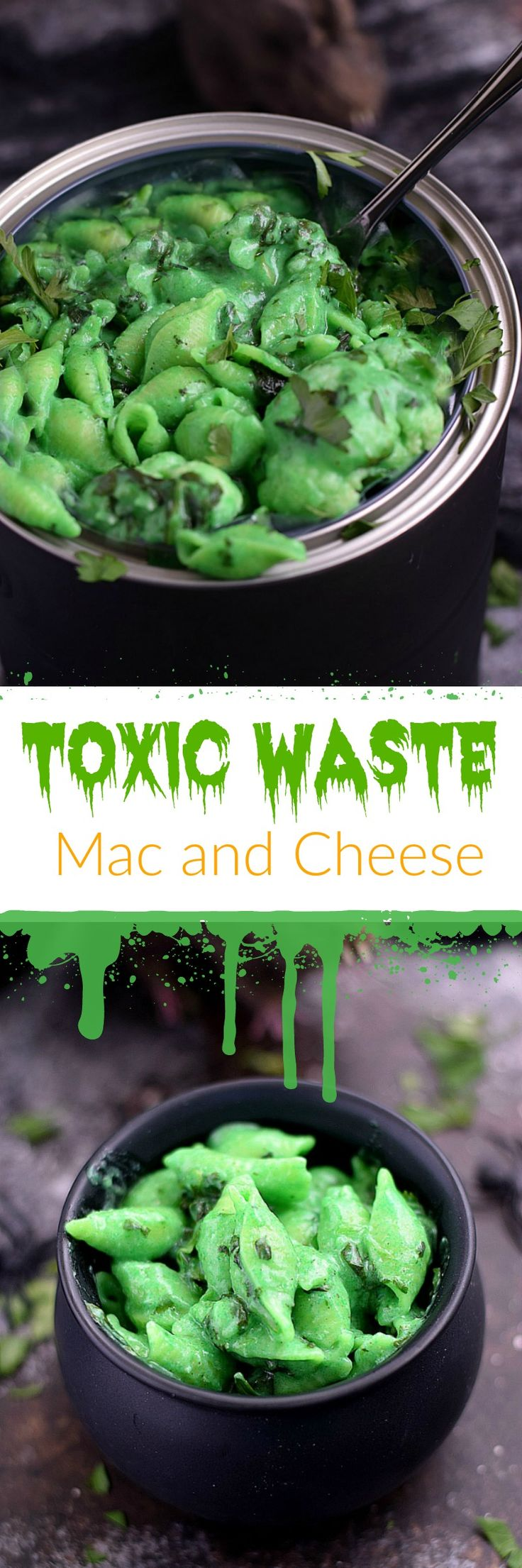 This Toxic Waste Mac and Cheese is disgustingly delicious and actually quite healthy. It's perfect for Halloween and the kids won't mind eating it | cookingwithcurls.com