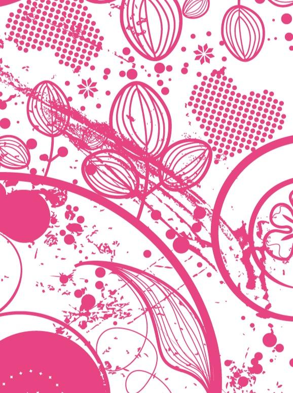 Magenta Flowers - Blackberry Torch 9800 9810