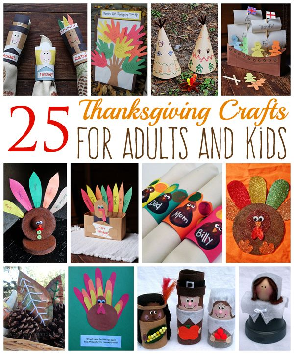25 thanksgiving crafts for adults and kids crafts for Thanksgiving activities for adults