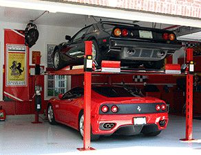 Backyard Buddy proudly produces an American-made 4 post car lift for home garage setups perfect for collectors and enthusiasts. Posted via BuyDirectUSA.com #Cars #Garage #MadeinUSA