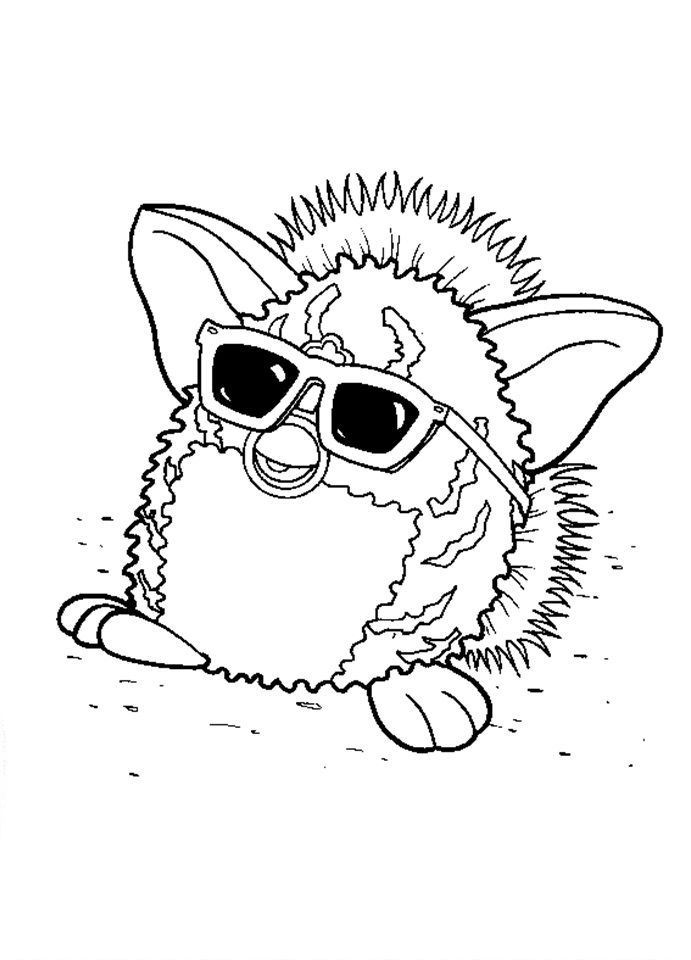 10 best Furbies Coloring Pages images on Pinterest