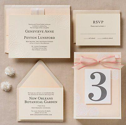 Embossed Roses Wedding Invitation - Genevieve & Peyton | Paper Source
