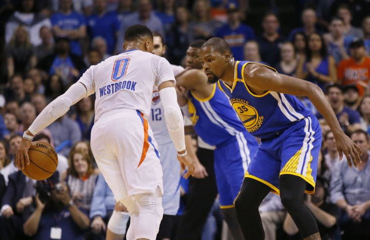 Warriors' Kevin Durant discusses feud with Thunder's Russell Westbrook = While Oklahoma City Thunder point guard Russell Westbrook has drifted to the forefront of NBA discussion fodder as his triple-double chase enters the regular season's final month, Golden State Warriors' forward Kevin Durant remains out with a knee injury. However, the former teammates' perceived animosity toward one another was arguably this season's premier subplot while Durant was healthy. The former MVP opened up…