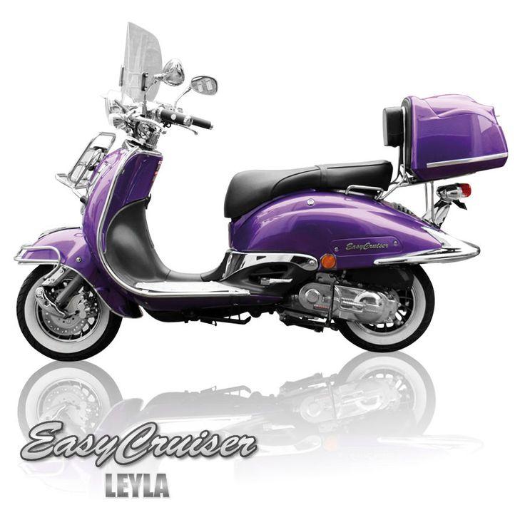 retro roller chrom scooter mofa 25 49 50 ccm motorroller leyla lila easycruiser motorroller. Black Bedroom Furniture Sets. Home Design Ideas