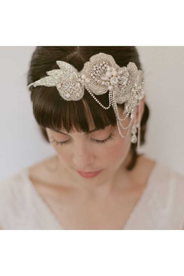 So Pretty Beaded Headband by www.ericaelizabeth.com