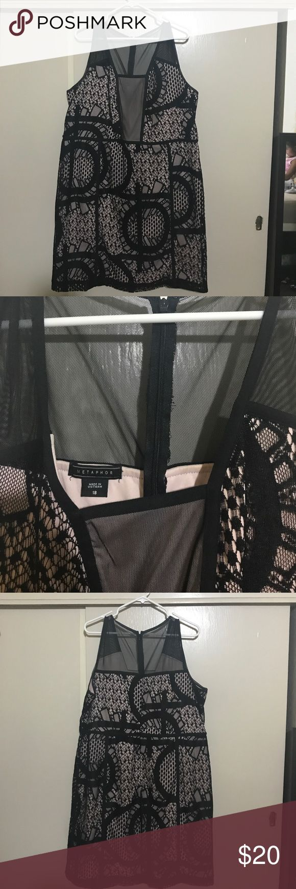 Black/cream party dress. Party dress. Worn 2x only.  Great condition. Metaphor Dresses