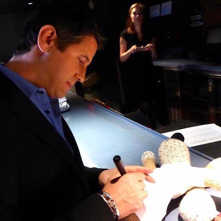 Now what would our incredibly talented Honorary President be signing here?!? It couldn't possibly mean another exclusive raffle in 2017 would it?!? Well maybe it does...  THANK YOU for everything this year patron and on to the next with gusto! Thank you so much AMTM on vous aime! #sebdivo #sifcofficial #ildivofansforcharity #sebastien #izambard #sebastienizambard #ildivo #ildivoofficial #ildivoamorypasion #sebontour #ildivotour #singer #band #musician #music #concert #composer #producer…