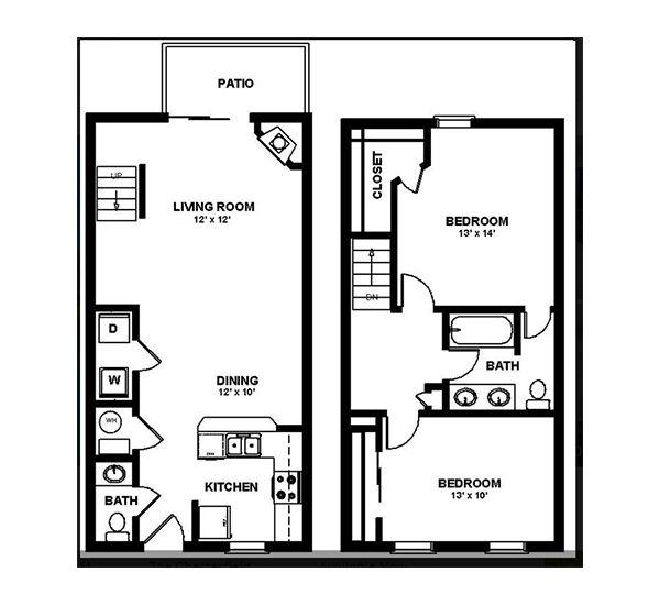 Pin On Apartment Home Floorplans