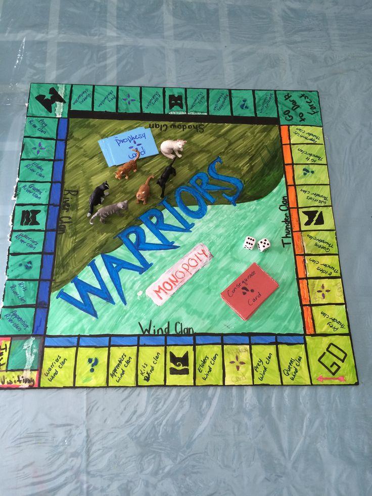 Warriors DIY monopoly board DIY warriorscats monopoly