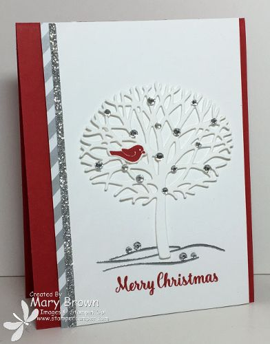 by Mary: Thoughtful Branches Bundle, Star of Light, Neutrals dsp stack, Silver Glimmer Paper - all from Stampin' Up!