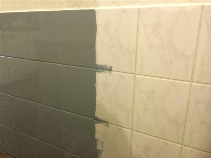 25 beste idee n over verf tegels op pinterest verf badkamertegels badkamertegels schilderen - Verf vloertegels ...