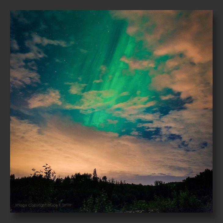 Aurora Borealis Taken by Bruce Smith on July 6, 2013 @ Edmonton, Alberta, Canada