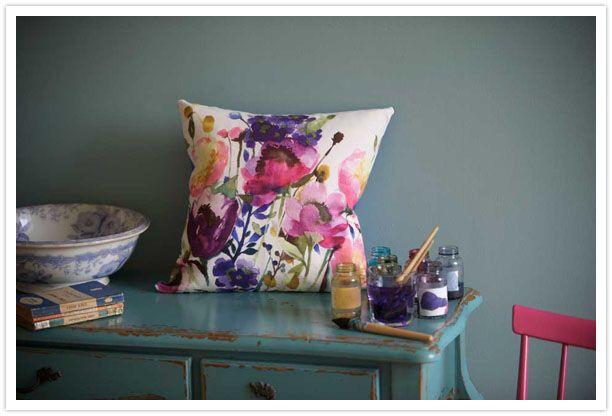 Акварельные цветы/текстиль