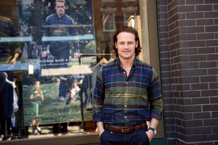 Photos from September Barbour store NYC visit. #Sam_Hueghan