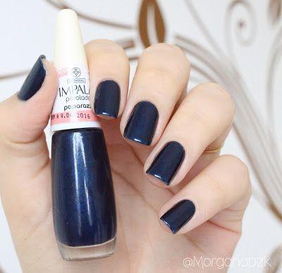 Paparazzi da Impala. Blue nails. Navy. Azul marinha nas unhas. Nail polished. Polishes. Nail art.