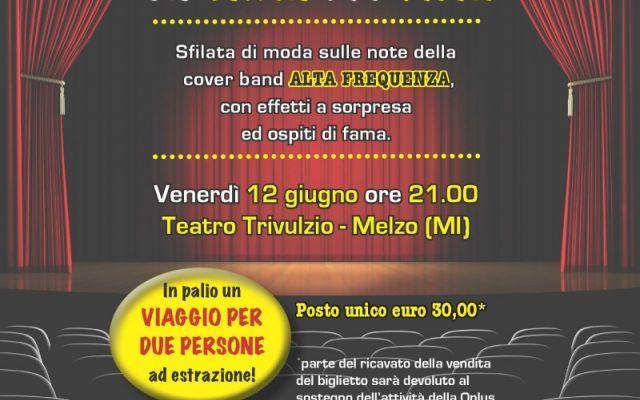 A Melzo un evento di beneficenza per i malati di cancro Venerdì 12 giugno musica, moda e danza animeranno il palco del Teatro Trivulzio di Melzo per uno spettacolo di beneficenza in favore dei malati terminali. #melzo #beneficenzamalatidicancro