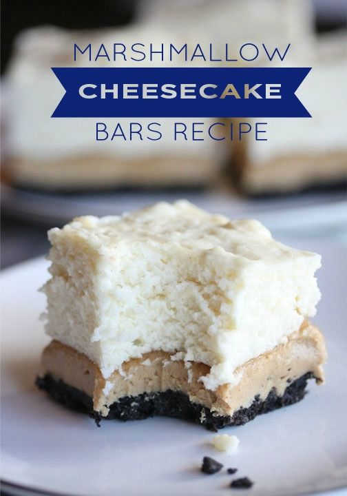 These Peanut Butter No-Bake Marshmallow Cheesecake Bars create an ...
