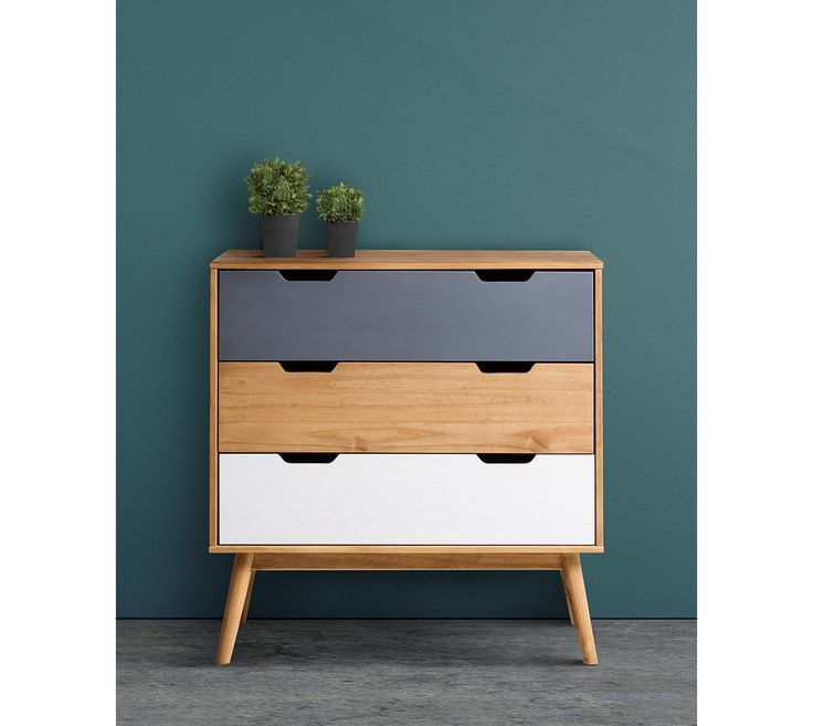 commode scandinave tiroirs anael bois massif with commode