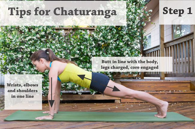 Tips for Chaturanga - Yoga by Candace