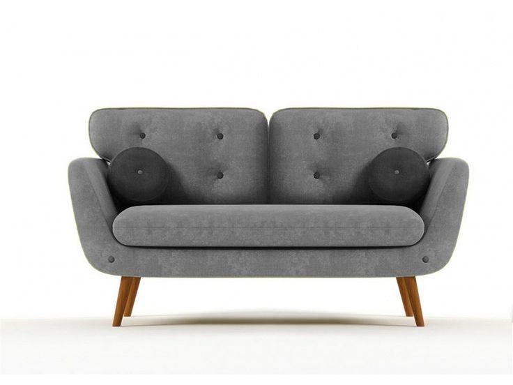 Alva Sofa 2 Osobowa Na N Kach Szara Sofa Retro Scandi Shabby Loft Style Sofas Pinterest